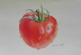 西红柿番茄彩铅手绘教程图片 西红柿彩铅怎么画 番茄的画法
