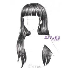 彩铅画头发怎么画 画彩铅素描的时候女生长头发绘画重点 长头发的画法
