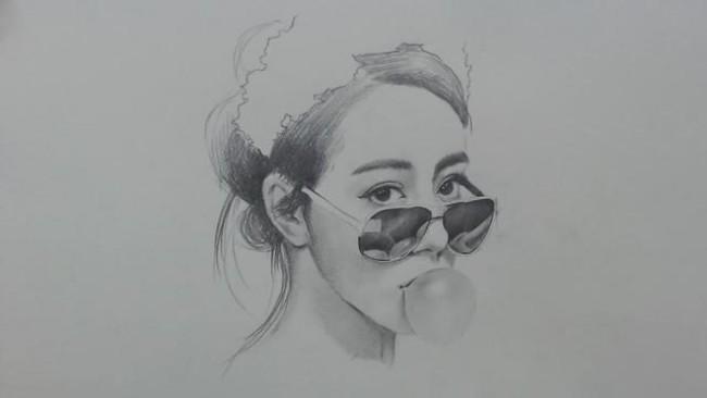 明星迪丽热巴手绘教程专题,素描,彩铅,水彩画手