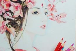 明星迪丽热巴手绘教程专题,素描,彩铅,水彩画手绘教程图片欣赏