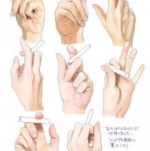 手拿香烟结构展示图片 拿着香烟的手部怎么画素材 姿势参考图图片