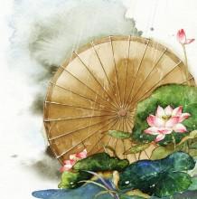 浓郁中国传统元素的国风水彩插画作品图片欣赏 美不胜收