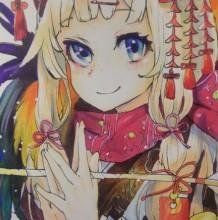超萌的中国风二次元妹子马克笔上色手绘教程步骤图片演示
