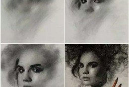 美国画家Casey baugh精美人物素描画作品图片 带步骤过程