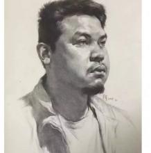 中年男子素描头像手绘教程图片带步骤 有人物照片参照对比