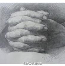 手部素描手绘教程图片 手的各种姿势素描画画法 手部素描怎么画