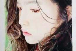 日本名模山田直美彩铅手绘画教程图片 山田直美彩铅画画法 彩铅怎么画