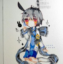 可爱日式兔耳小萝莉美女插画手绘教程图片 马克笔上色教程画法