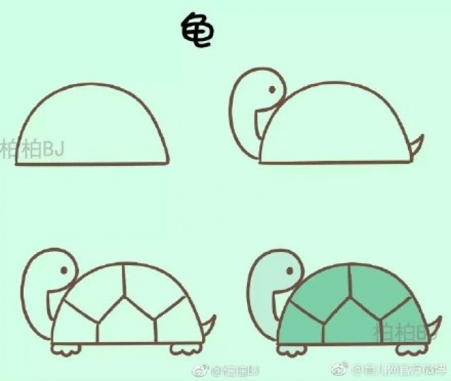 适合幼儿园小朋友画的超简单简笔画教程图片 动物植物