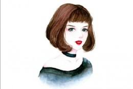 女生水彩头型图片 适合女生的水彩画头像 精致好看的水彩女生头像图片 各种风
