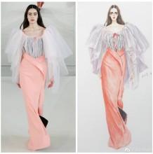 水彩马克笔服装设计效果图手绘教程图片 根据时装发布会模特照片绘制