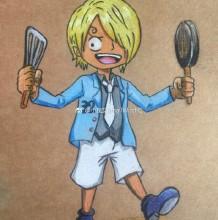 海贼王山治Q版漫画手绘教程图片 海贼王山治的画法 海贼王山治怎么画