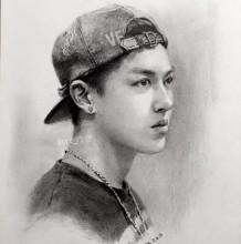 戴帽子的男青年侧身素描手绘画教程图片 戴帽子男青年侧身像素描画法 怎么画