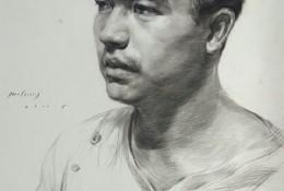 青年男子素描微微侧身头像素描手绘画教程图片 男青年微侧面头像素描画法