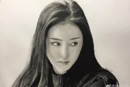 演员张天爱素描画手绘教程图片 明星张天爱的素描写实画法 怎么画