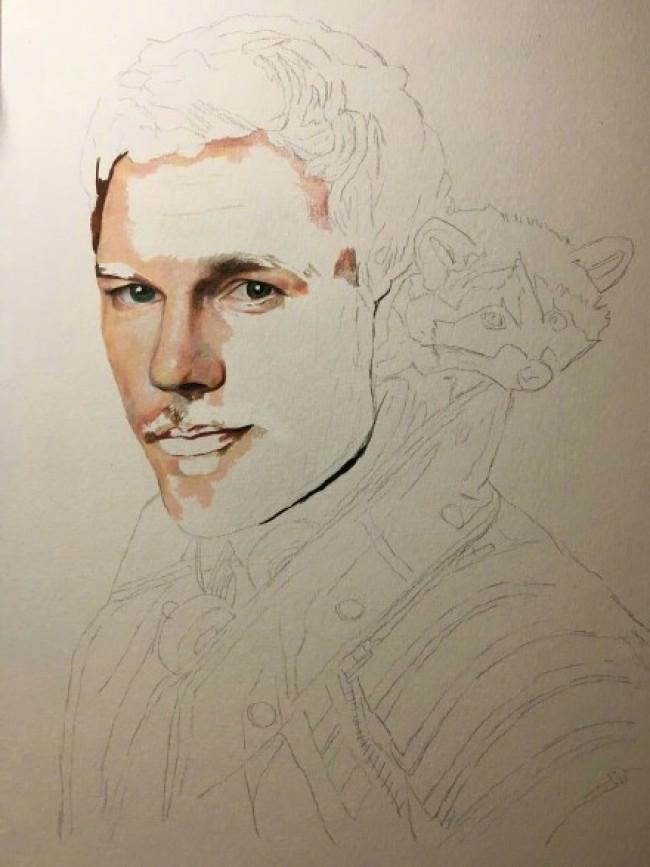 银河护卫队2克里斯·帕拉特彩铅画手绘教程图片 好莱坞明星彩铅教程上