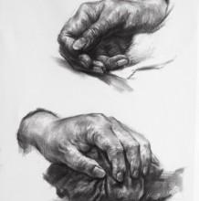 素描手部的画法 手部的各种姿势素描画图片 不同姿势手结构的素描画怎么画
