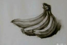 香蕉素描画怎么画 水果香蕉素描画画法 香蕉的素描教程图片