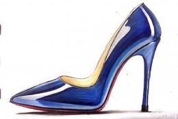 高跟鞋马克笔上色步骤教程图片 鞋履皮质质感马克笔怎么上色参考图片