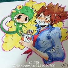 家庭教师沢田纲吉漫画插画手绘教程图片 马克笔上色步骤 怎么画画法