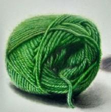 逼真写实的毛线团彩铅手绘教程图片 毛线团彩铅画法 毛线团彩铅怎么画
