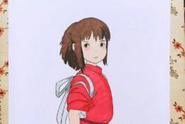宫崎骏动漫人物马克笔手绘图片 风之谷,龙猫,千与千寻,魔女人物动漫手绘