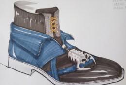 男士皮鞋产品设计手绘教程图片 马克笔上色 带线稿和上色图