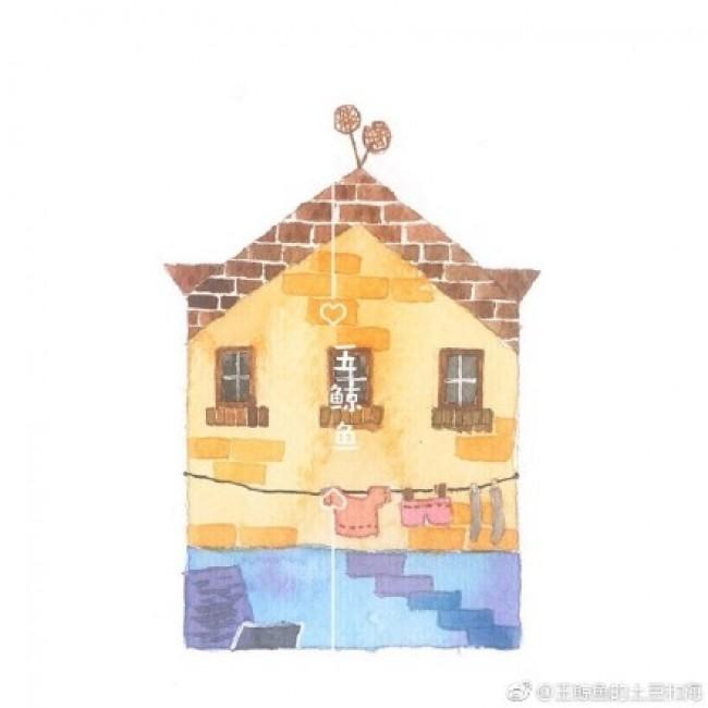 用水彩畫簡單可愛的小房子圖片 適合新手練習水彩上色