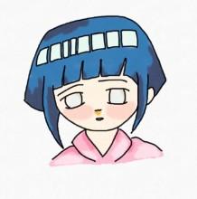 超简单火影忍者雏田简笔画图片手绘教程 马克笔上色
