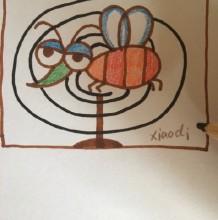 蚊子简笔画图片教程 简单的蚊子怎么画 蚊子的画法 蚊子卡通画