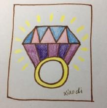 可爱又简单的钻石戒指简笔画片手绘教程 钻石戒指的画法 怎么画