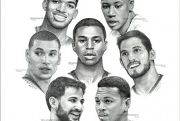 NBA球星球员素描头像手绘画合集图片 NBA球星的素描画图片