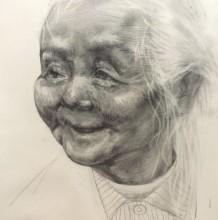 慈祥的老奶奶素描画图片手绘教程 老奶奶头像素描画怎么画