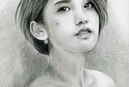 明星杨丞琳素描画图片 杨丞琳的素描手绘教程素材 杨丞琳素描画怎么画
