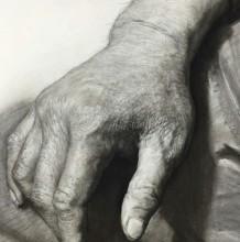 逼真写实的手部特写素描画图片手绘教程 手部素描画法步骤分解