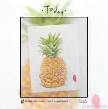 菠萝彩铅画图片 菠萝彩铅手绘教程 菠萝怎么画 逼真的菠萝画法