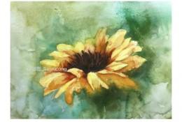向日葵水彩画图片 向日葵水彩手绘教程 向日葵花水彩怎么画 画法