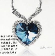 海洋之心蓝宝石彩铅画教程 图片步骤过程 蓝宝石怎么画 蓝宝石的画法