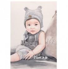 可爱萌的小宝宝彩铅画教程 手绘上色步骤过程 逼真小宝宝人物肖像彩铅画