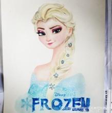 冰雪奇缘艾莎公主彩铅画教程 安娜艾莎手绘教程图片 安娜艾莎画法怎么画