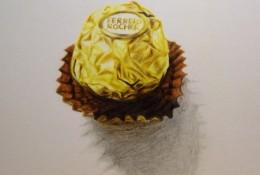 费列罗巧克力彩铅画教程 情人节费列罗巧克力手绘教程图片 费列罗画法 怎么画