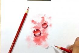 简单的水滴效果彩铅画教程图片 水滴手绘教程 水滴彩铅怎么画 水滴的画法