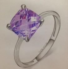 宝石戒指彩铅教程 钻石戒指手绘教程图片 蓝紫宝石戒指怎么画 画法