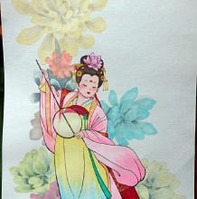 古风仕女马克笔教程 古代女子手绘教程图片 中国古代女人画法 怎么画