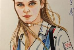 自然的国外气质美女人物马克笔上色手绘教程图片 金发美女马克笔画法