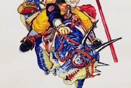七龙珠马克笔手绘教程图片 七龙珠悟空怎么画 七龙珠悟空的画法