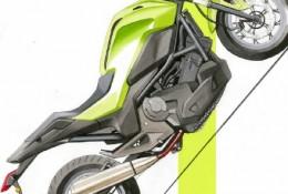 摩托车电瓶车马克笔手绘效果图 摩托车电瓶车精美的马克笔上色图片