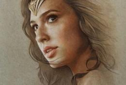 神奇女侠彩铅画手绘教程图片 漫威电影神奇女侠人物肖像画法 彩铅画怎么画