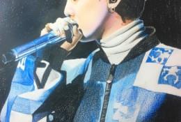 韩国歌星权志龙彩铅画图片 权志龙彩铅手绘教程 权志龙怎么画 权志龙画法