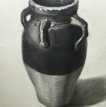 陶瓷罐子素描画图片 陶罐素描手绘教程 陶瓷罐子素描画法 结构 阴影关系